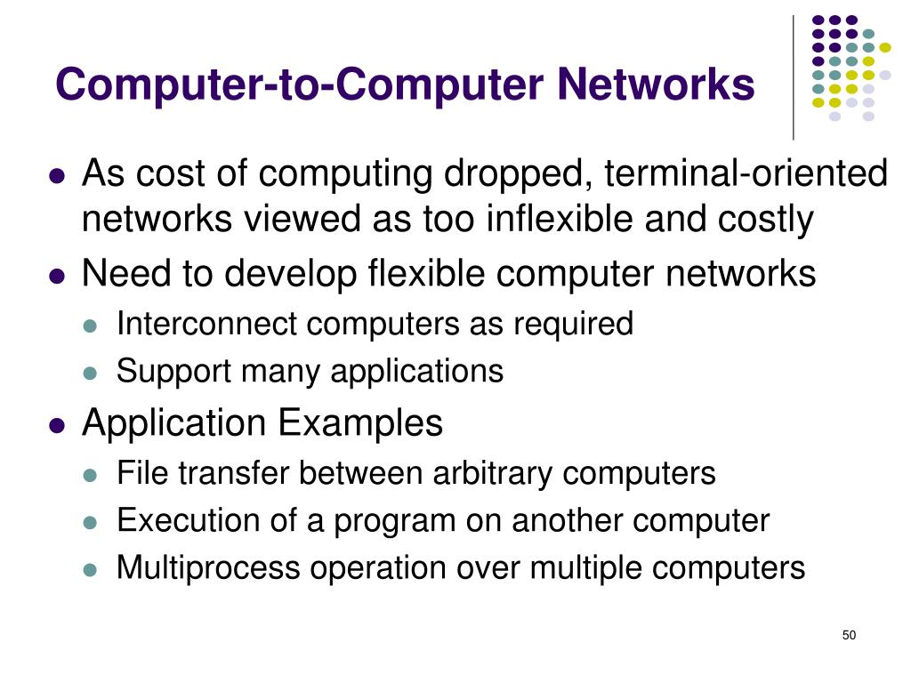 Computer-to-Computer Networks