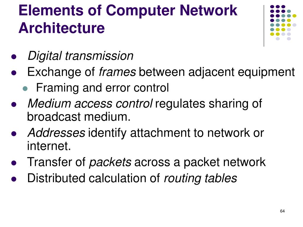 Elements of Computer Network Architecture