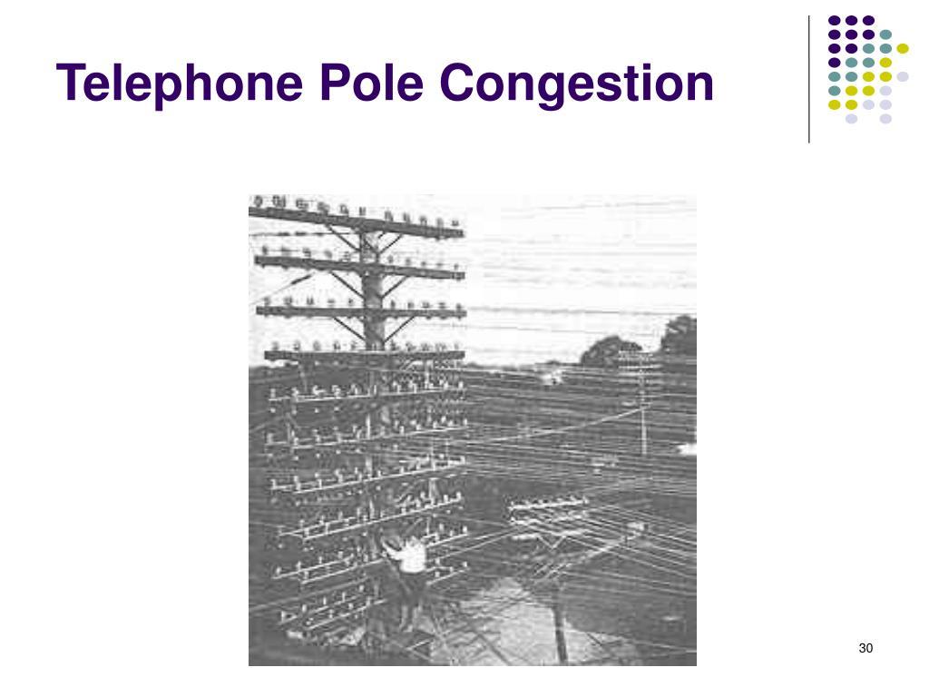 Telephone Pole Congestion