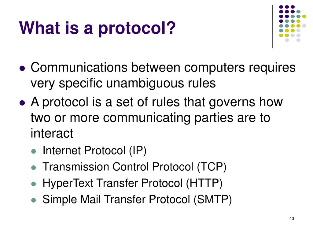 What is a protocol?