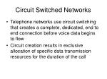 circuit switched networks