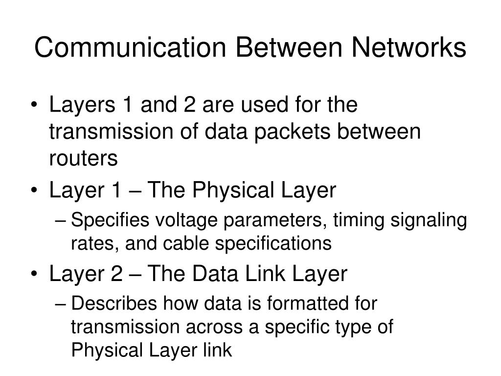 Communication Between Networks