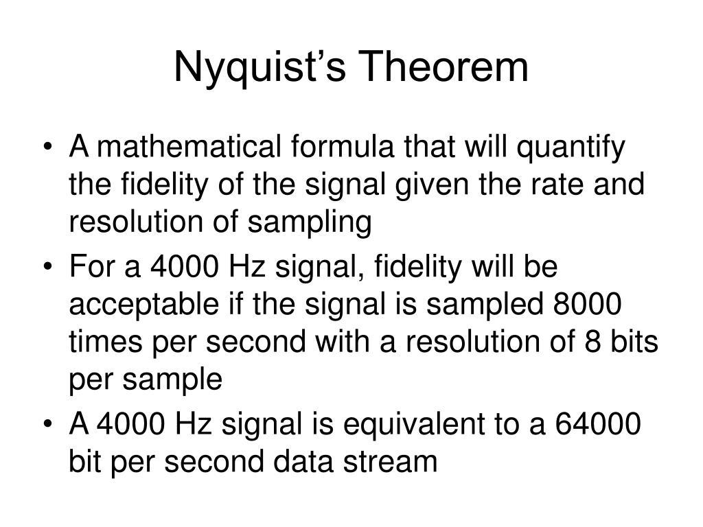 Nyquist's Theorem