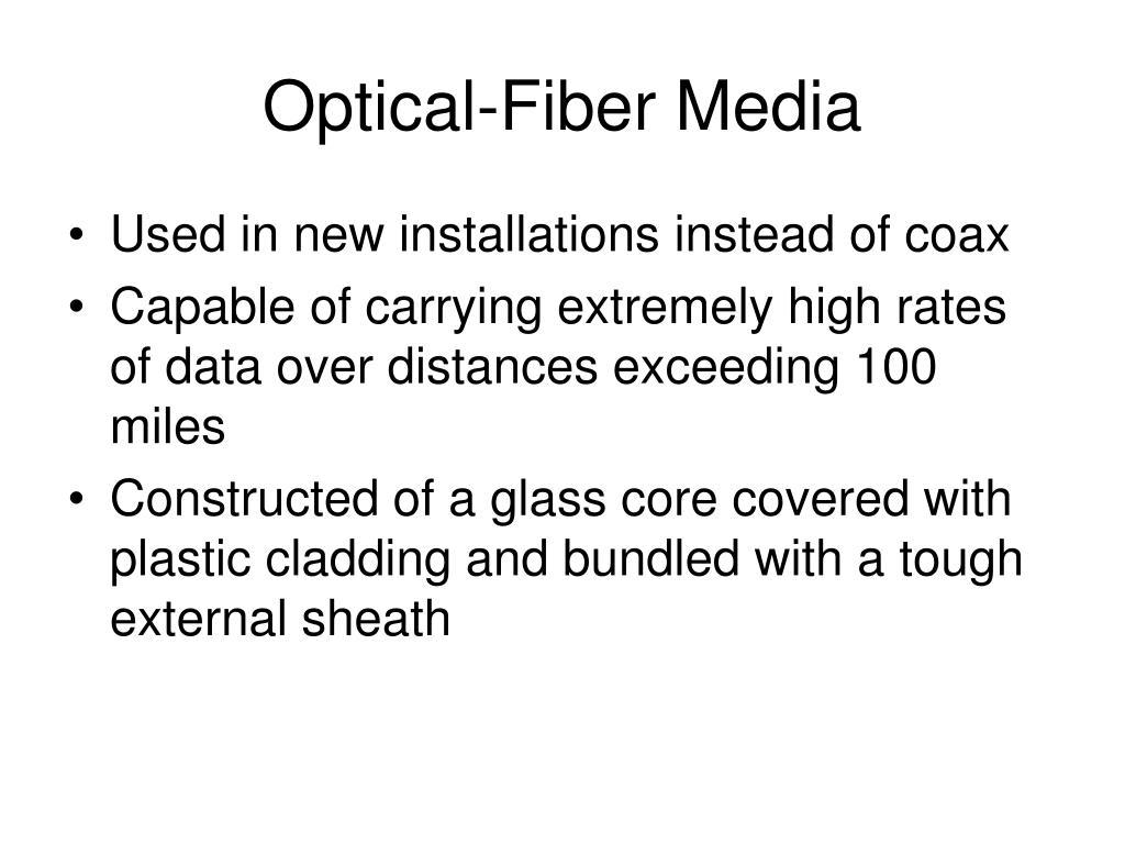 Optical-Fiber Media