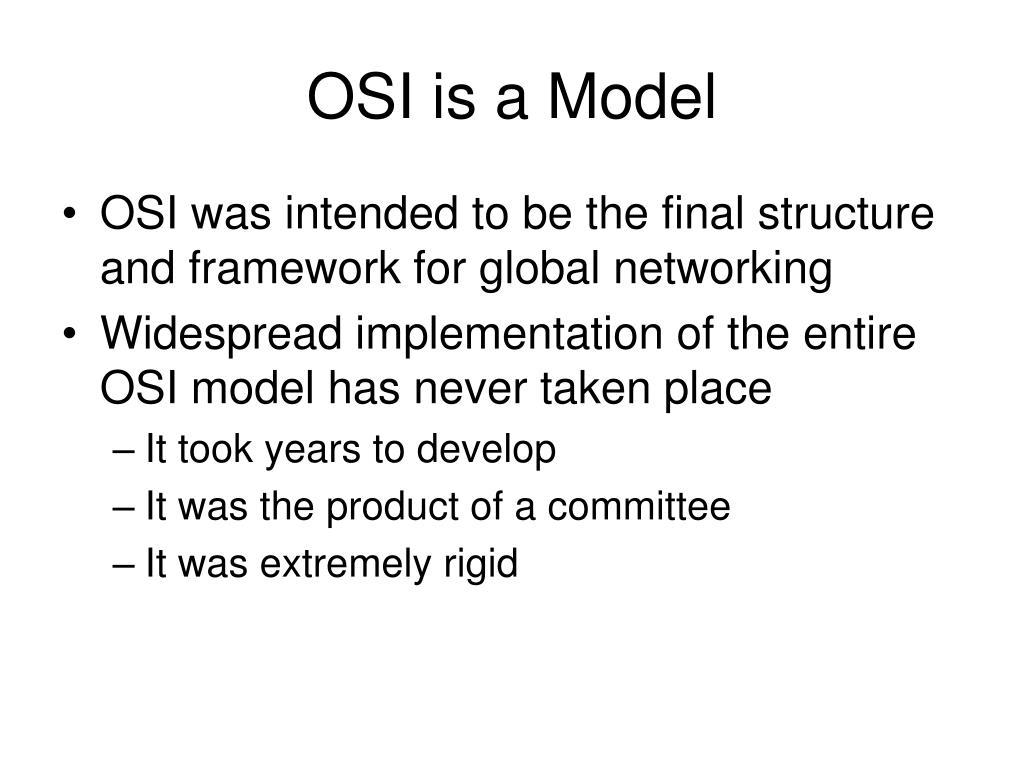 OSI is a Model
