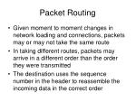 packet routing40