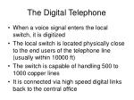 the digital telephone