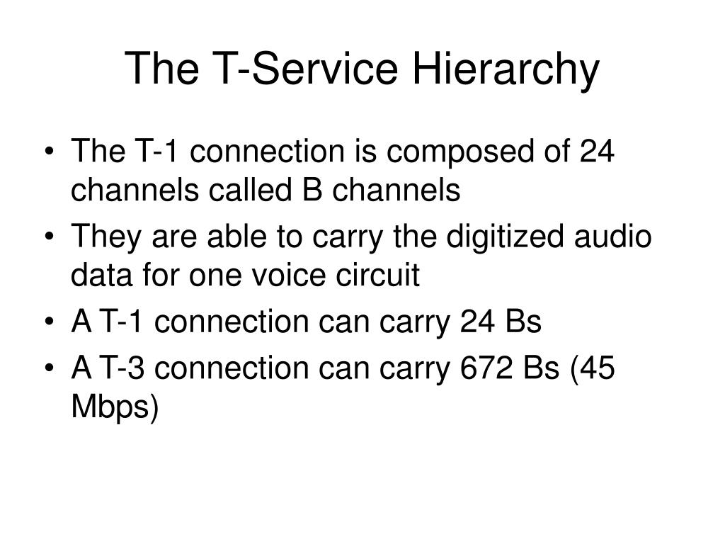 The T-Service Hierarchy