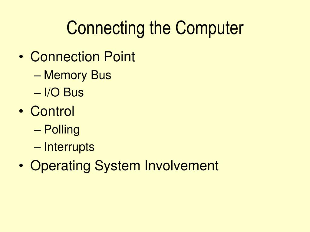 Connecting the Computer