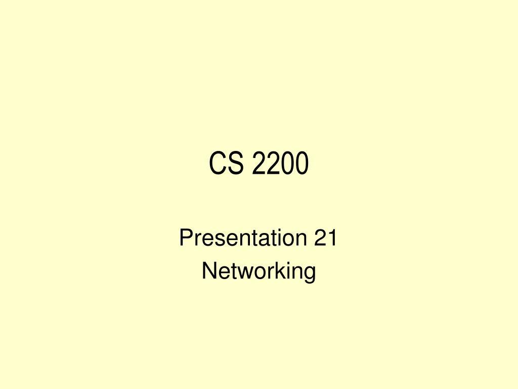 CS 2200