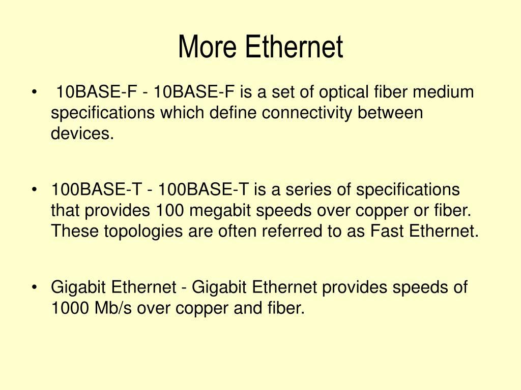 More Ethernet