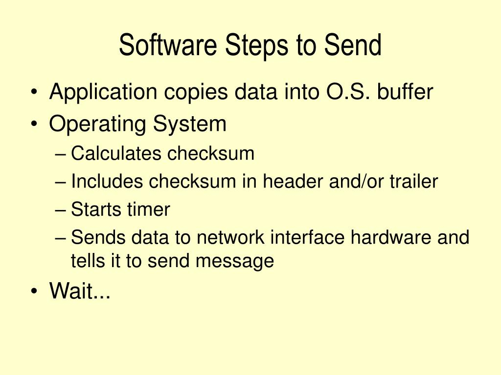 Software Steps to Send