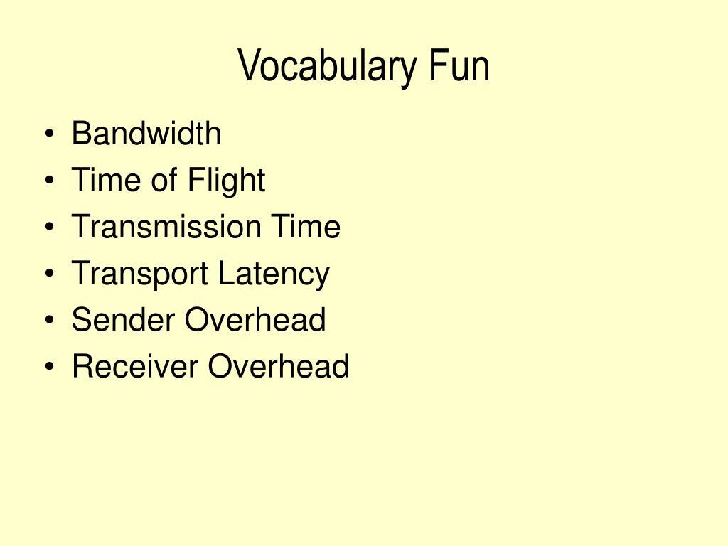 Vocabulary Fun