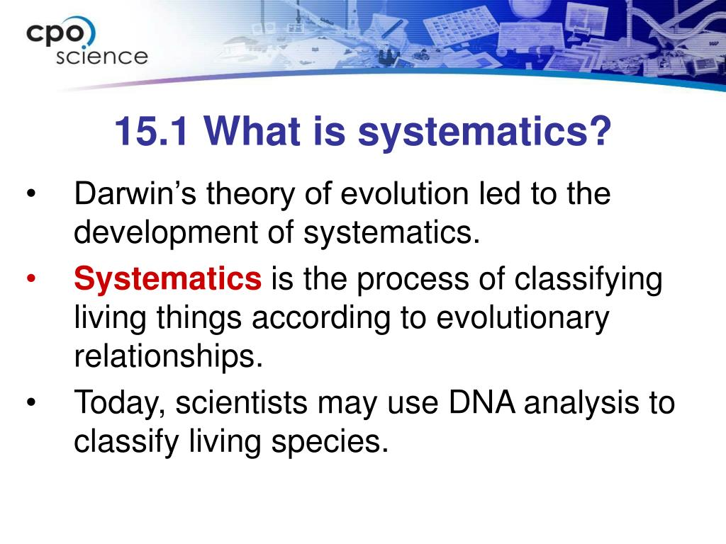 15.1 What is systematics?
