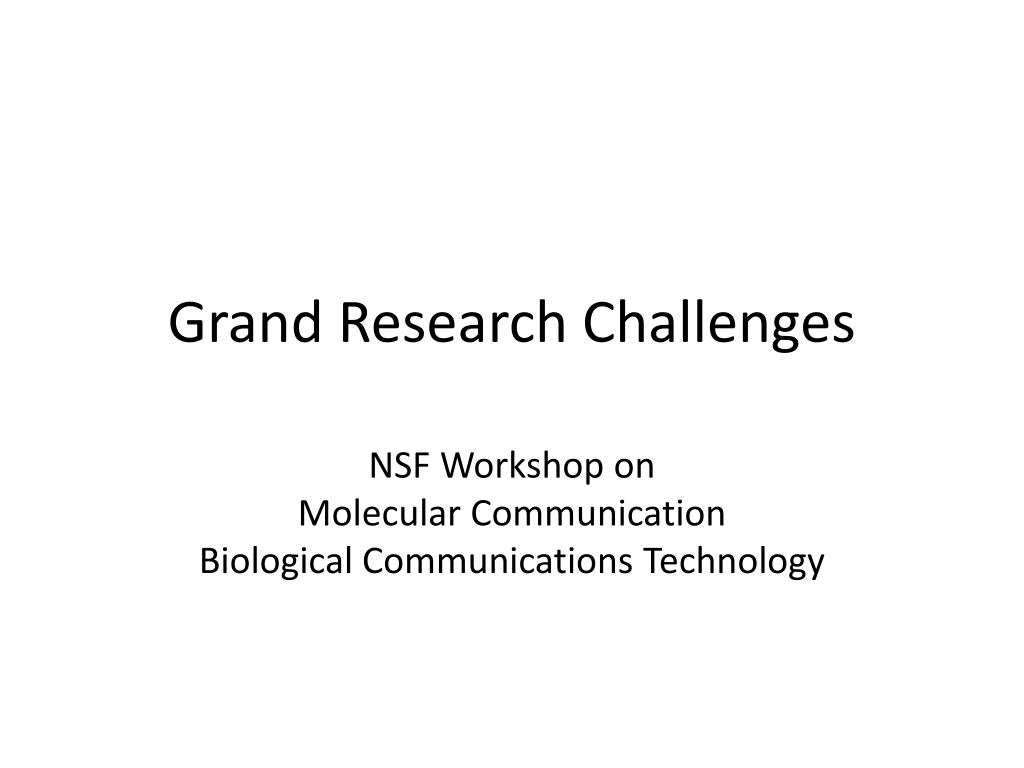Grand Research Challenges
