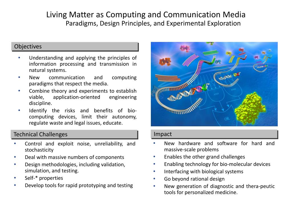 Living Matter as Computing and Communication Media