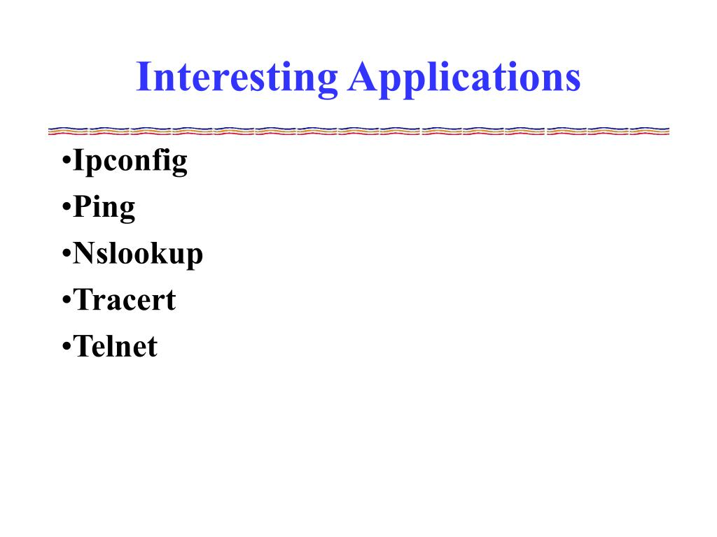 Interesting Applications