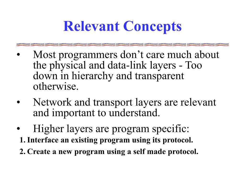 Relevant Concepts