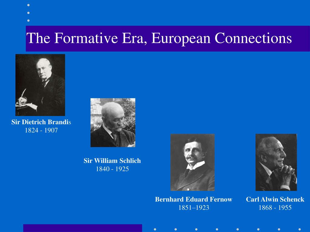 The Formative Era, European Connections