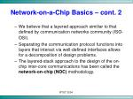 network on a chip basics cont 2