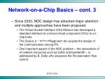 network on a chip basics cont 3