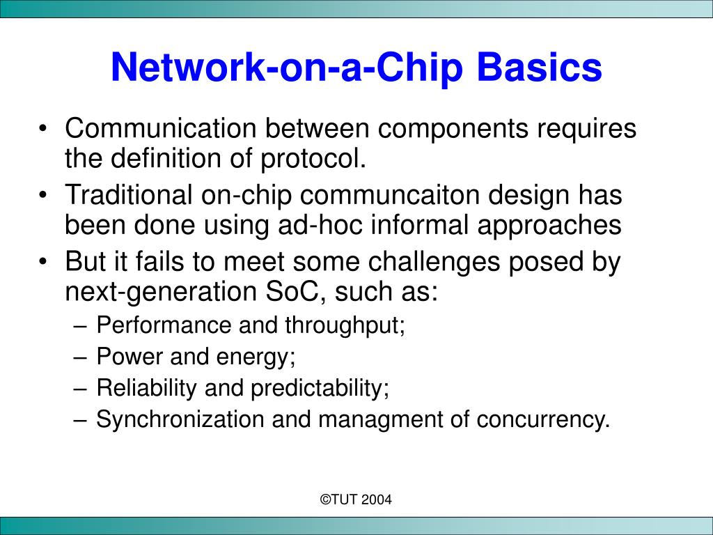 Network-on-a-Chip Basics