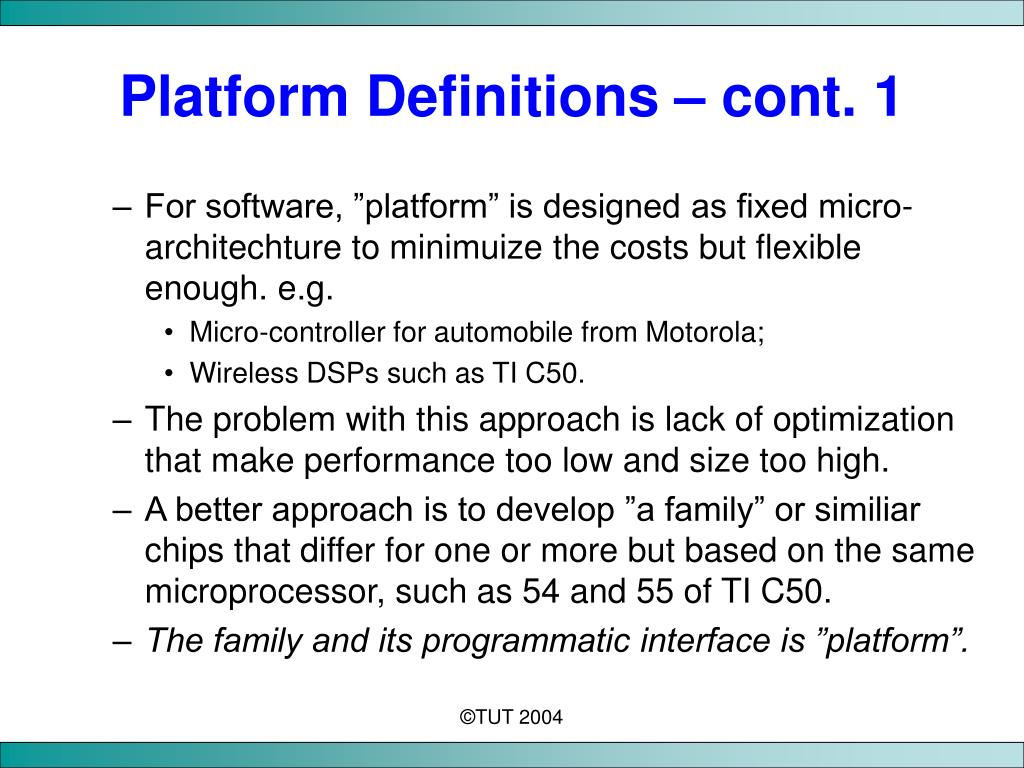 Platform Definitions
