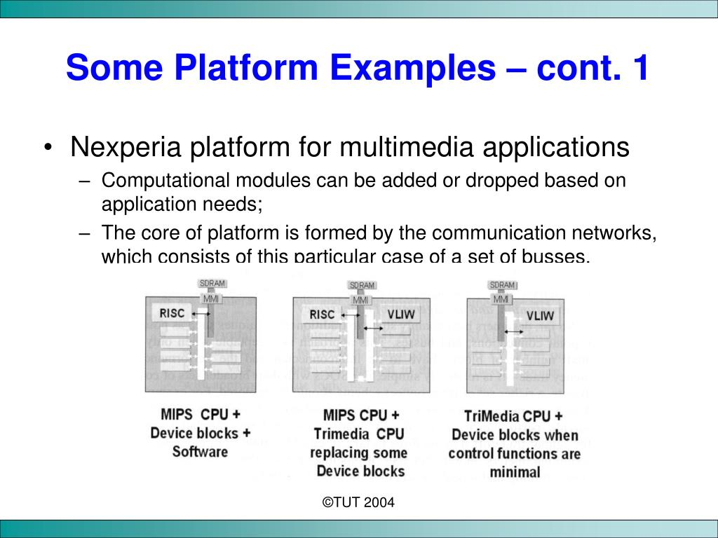 Some Platform Examples – cont. 1