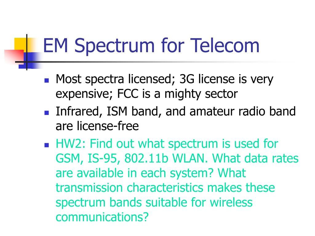 EM Spectrum for Telecom