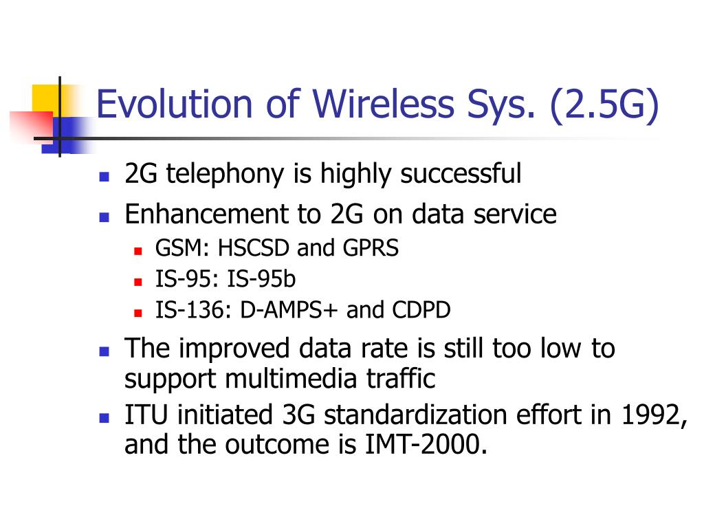 Evolution of Wireless Sys. (2.5G)