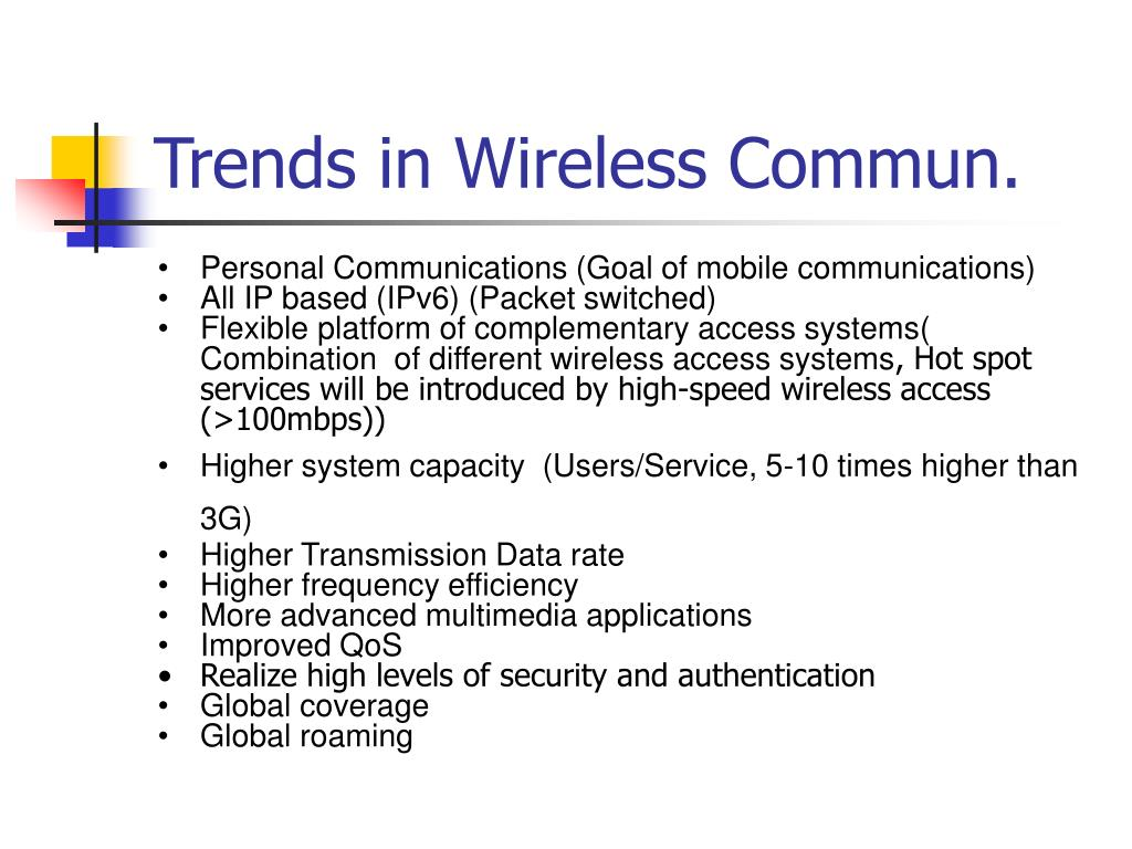 Trends in Wireless Commun.