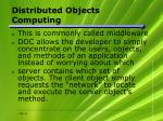 distributed objects computing