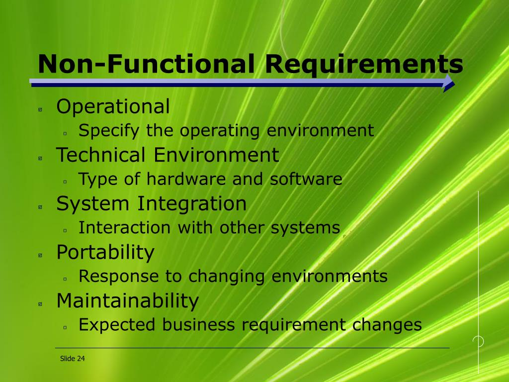 Non-Functional Requirements