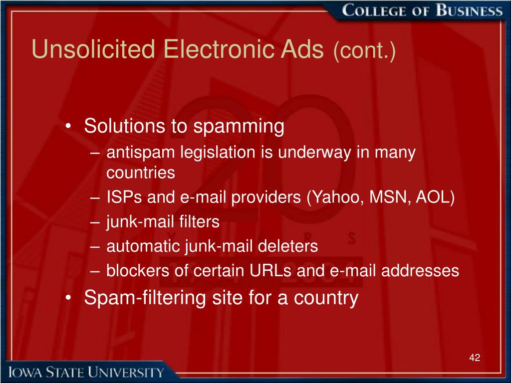 Unsolicited Electronic Ads