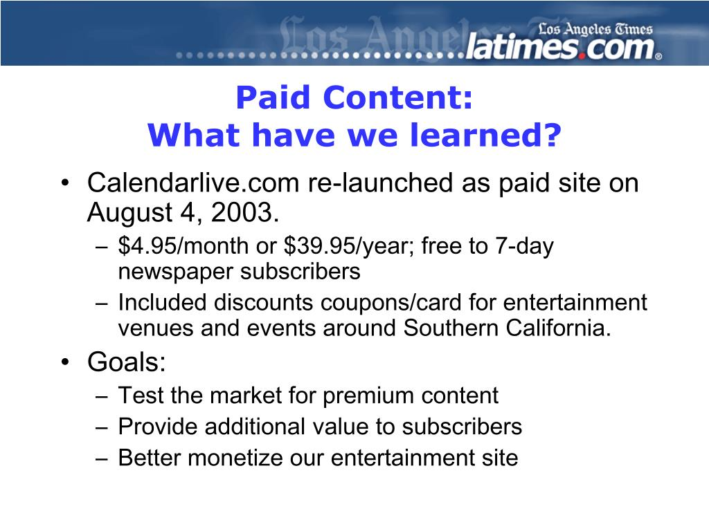 Paid Content: