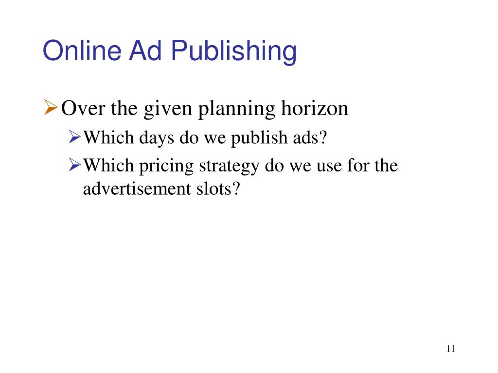 Online Ad Publishing