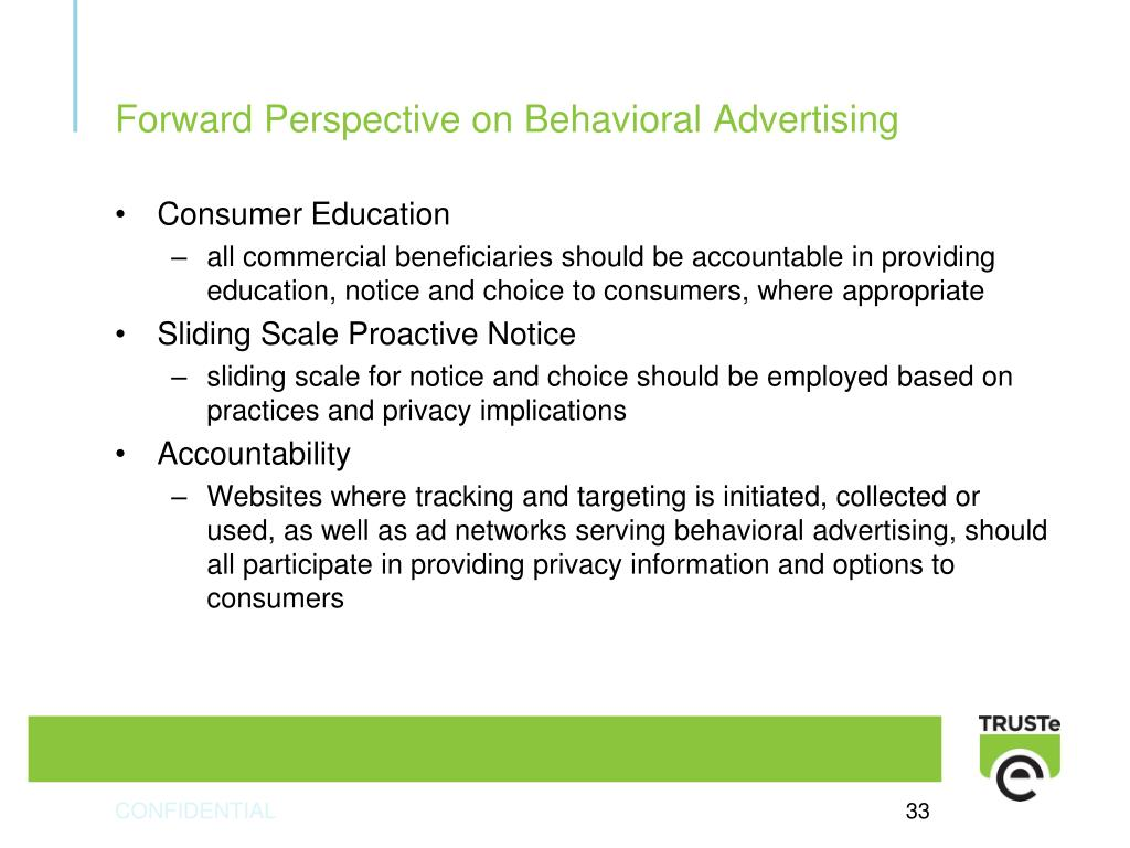 Forward Perspective on Behavioral Advertising