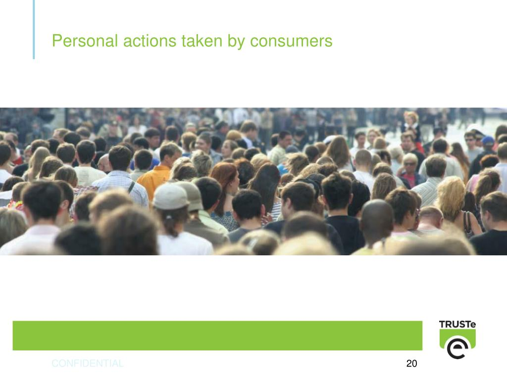 Personal actions taken by consumers