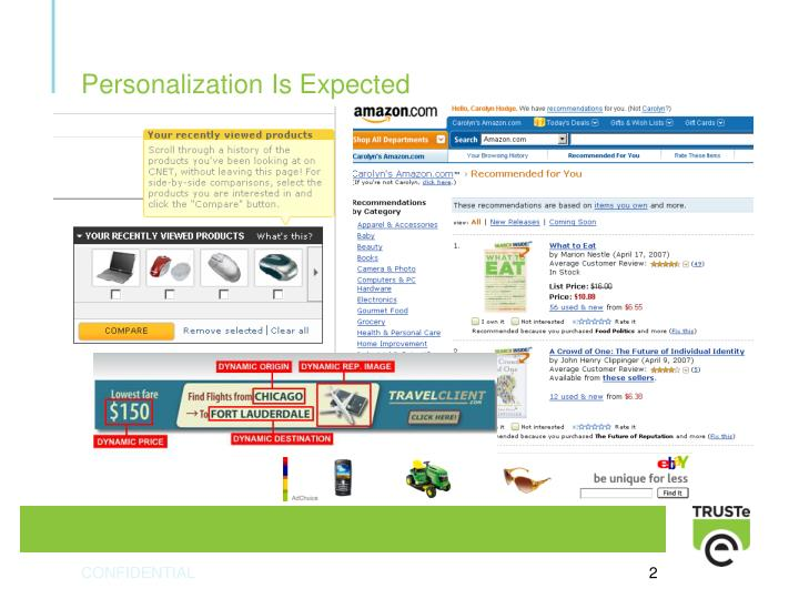 Personalization is expected