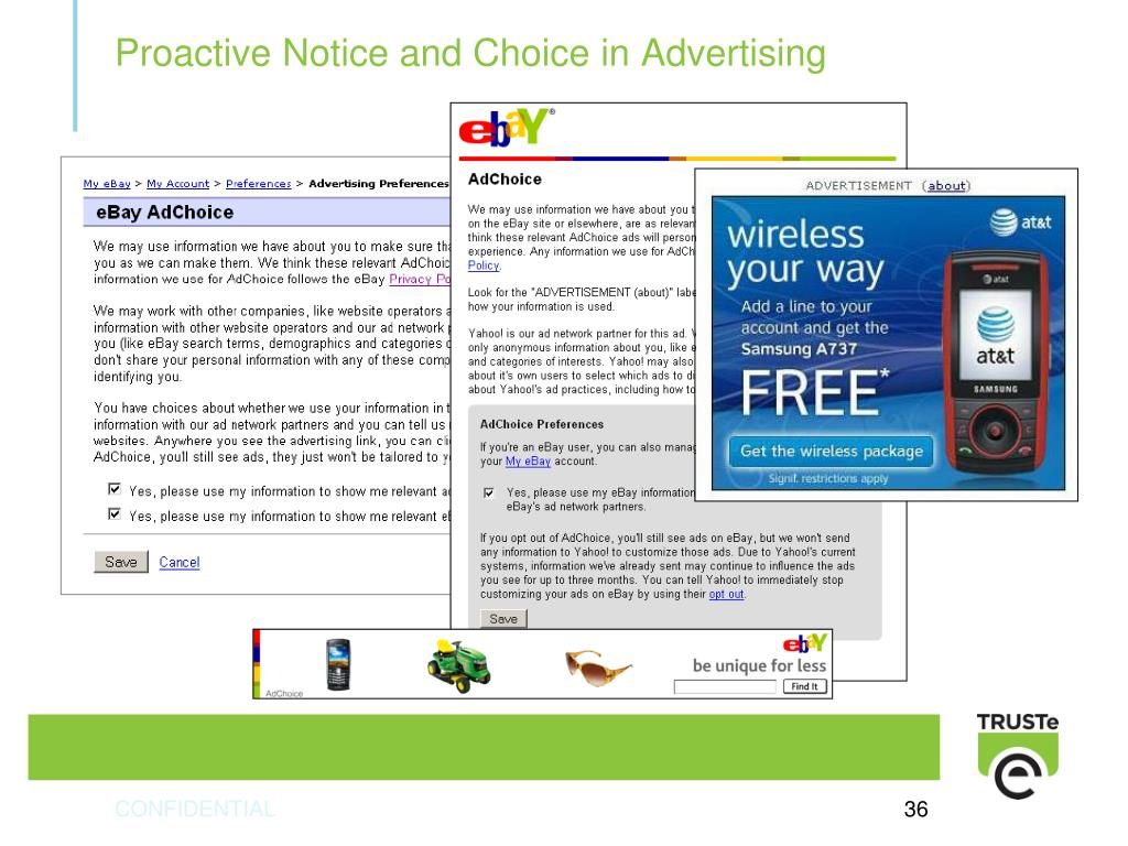 Proactive Notice and Choice in Advertising