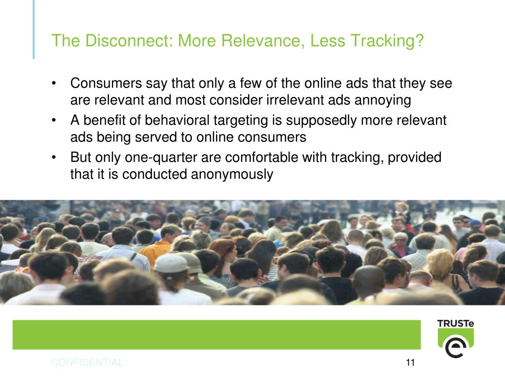 Consumers say that only a few of the online ads that they see are relevant and most consider irrelevant ads annoying