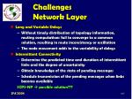challenges network layer