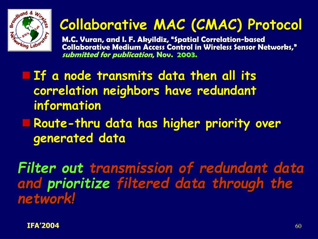 Collaborative MAC (CMAC) Protocol