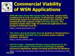 commercial viability of wsn applications81