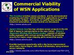 commercial viability of wsn applications82
