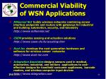 commercial viability of wsn applications83