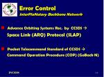 error control interplanetary backbone network112