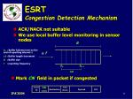 esrt congestion detection mechanism