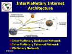 interplanetary internet architecture