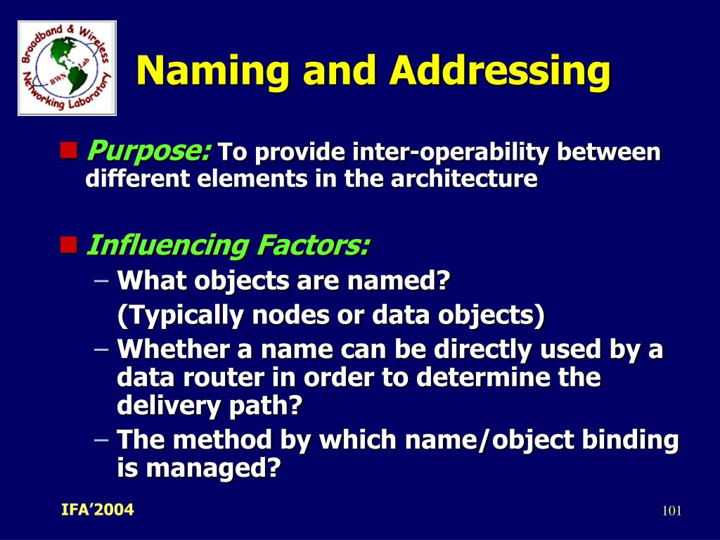 Naming and Addressing